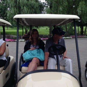 Kelsey with Rick @ Venture Global Engineering Charity Golf Outing 2016