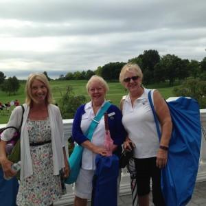 Denise, Lynne and Lois volunteering